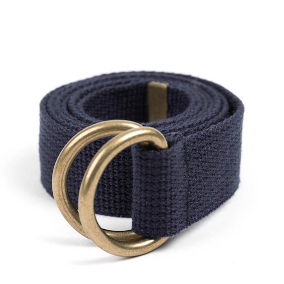 BR D-RING BELT (navy)