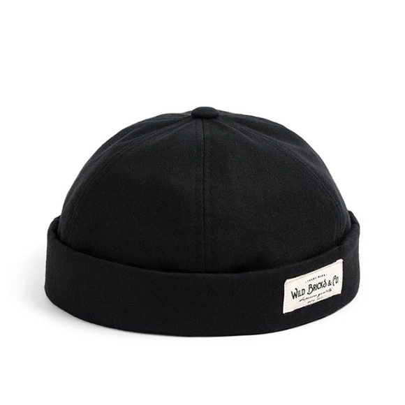 HBT COTTON BRIMLESS CAP (black)