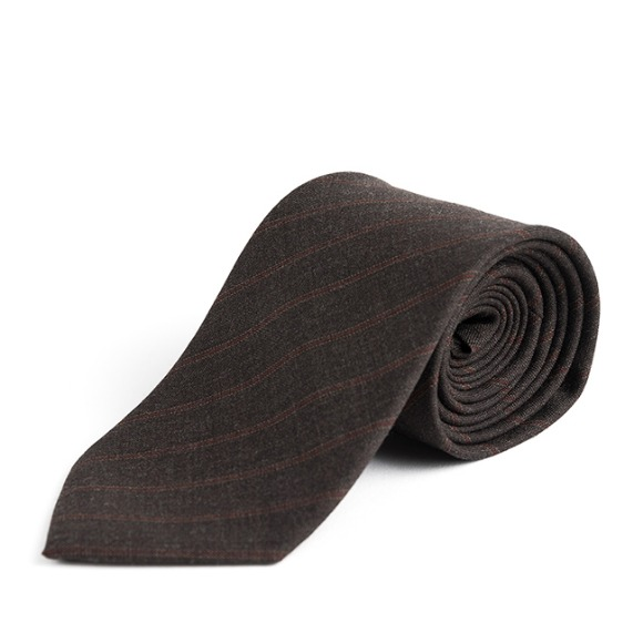 RP STRIPE WOOL TIE (brown)
