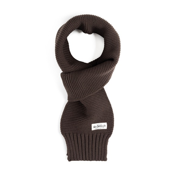MILITARY KNIT MUFFLER (brown)