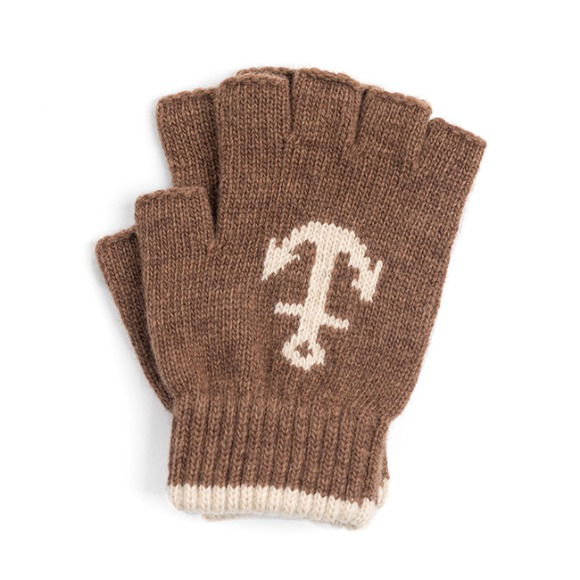 LW ANCHOR FINGERLESS GLOVES (camel)