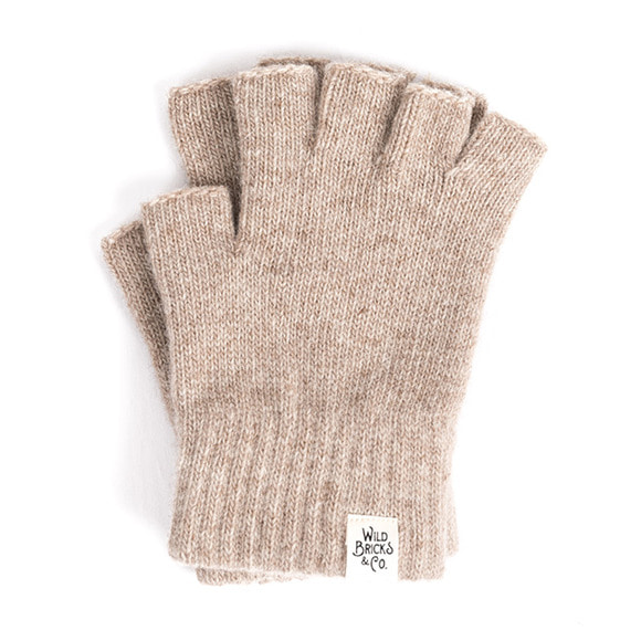 FINGERLESS GLOVES (beige)