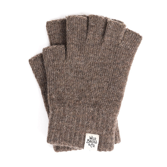 FINGERLESS GLOVES (brown)