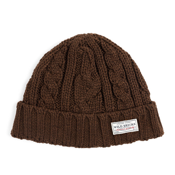 AP CABLE WATCH CAP (brown)