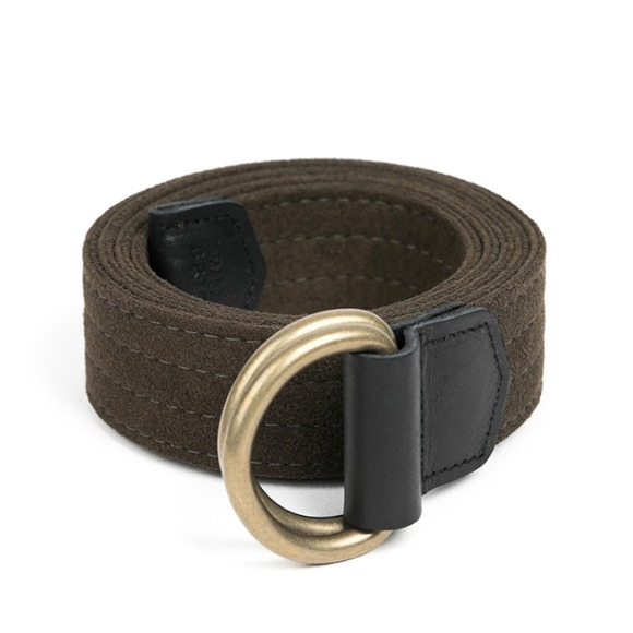 CHAMUDE D-RING BELT (khaki)
