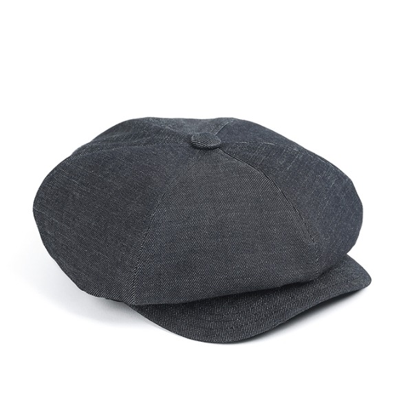SELVEDGE DENIM NEWSBOY CAP (denim)