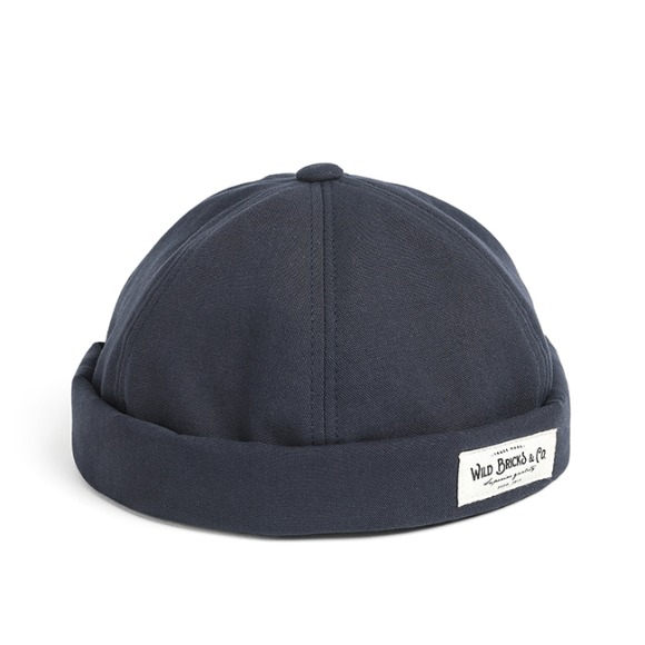BI OXFORD BRIMLESS CAP (navy)