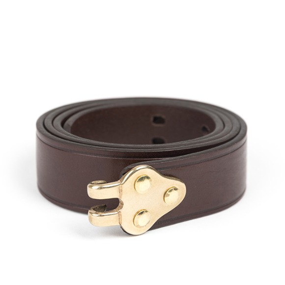 RIFLE SLING LEATHER BELT (dark brown)