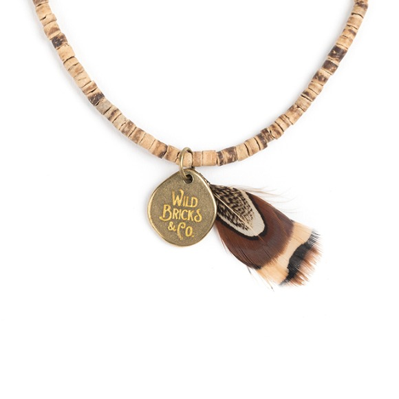 COCONUT WOOD NECKLACE (beige)