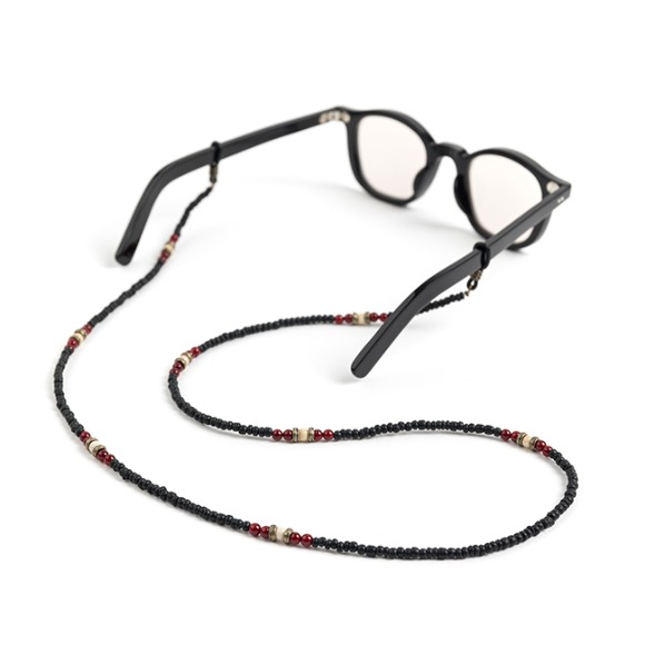 CP WOOD GLASSES STRAP (black)