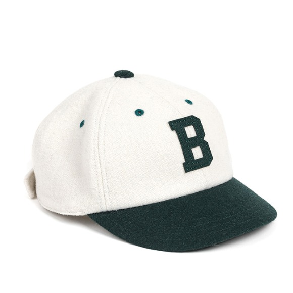 MELTON WOOL BASEBALL CAP (green)