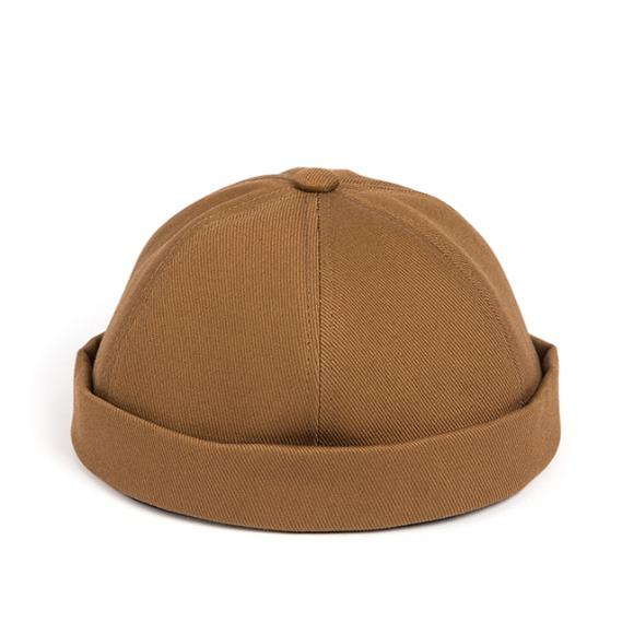 LB TWILL BRIMLESS CAP (brown)