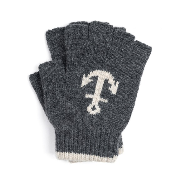 LW ANCHOR FINGERLESS GLOVES (charcoal)